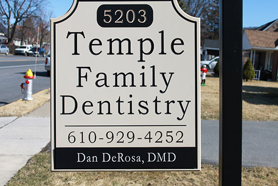 Sign for Temple Family Dentistry - Temple, PA